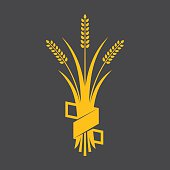 Ears of Wheat, Barley or Rye vector visual graphic icons