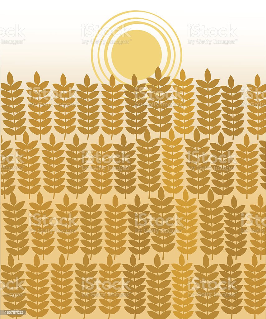 Ears Of Wheat , Harvesting Time royalty-free stock vector art
