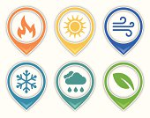 Earth and environment symbols. EPS 10 file. Transparency effects used on highlight elements.