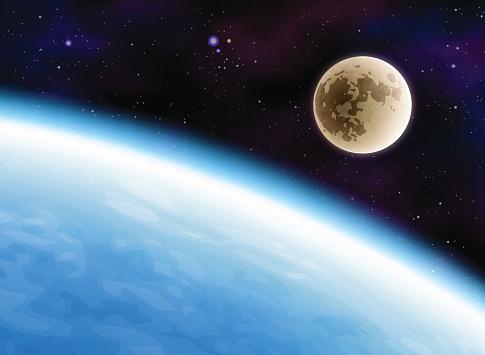 Moon stock illustrations