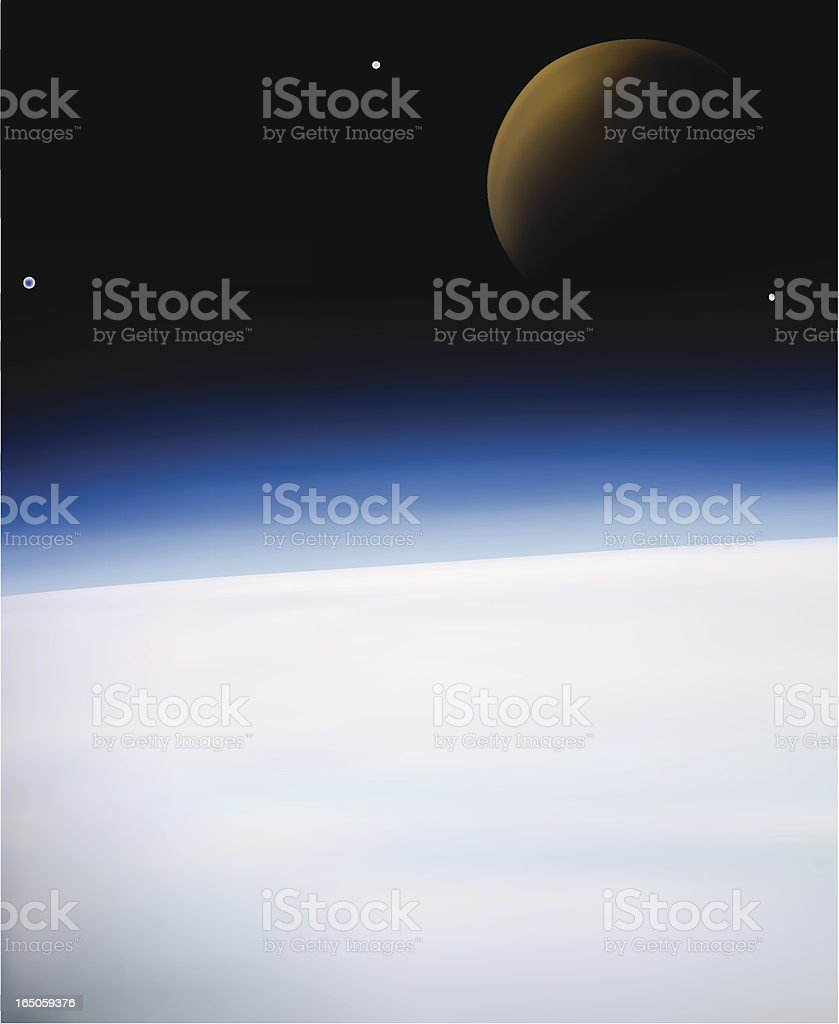 Earth and moon - VECTOR vector art illustration