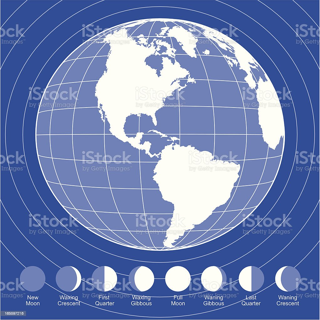Earth and phases of the moon royalty-free earth and phases of the moon stock vector art & more images of backgrounds