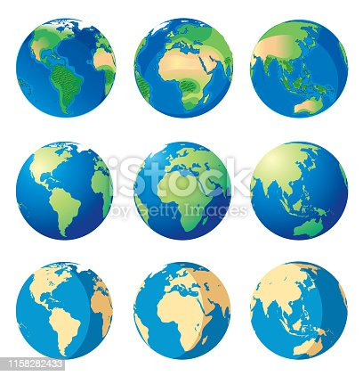 Vector Earth and World map http://legacy.lib.utexas.edu/maps/world_maps/world_physical_2015.pdf