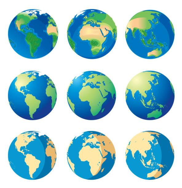 地球と世界の地図 - 地球点のイラスト素材/クリップアート素材/マンガ素材/アイコン素材