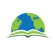 open book and planet earth