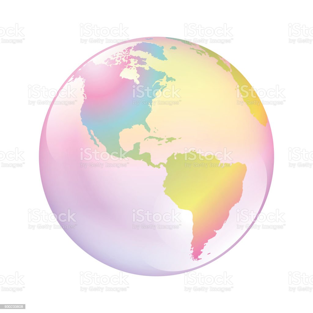 Earth bubble. The world as a fragile planet, symbol for vulnerable nature, climate, environment, mankind and other problematic global issues. Isolated vector illustration on white background. vector art illustration