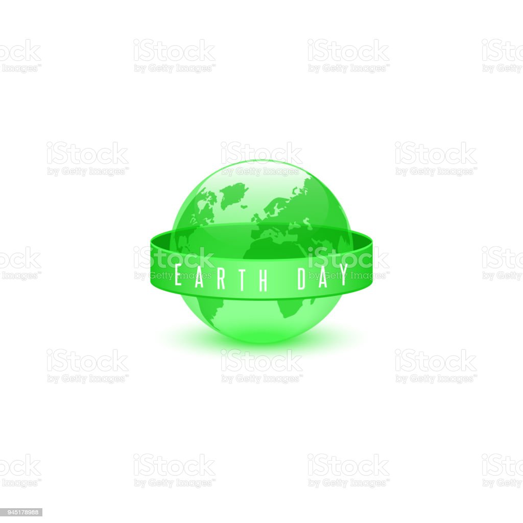 Earth Day 22 April Slogan Ecological Concept Of The Green Sphere