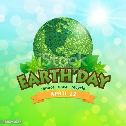 Earth Day April 22 symbol.