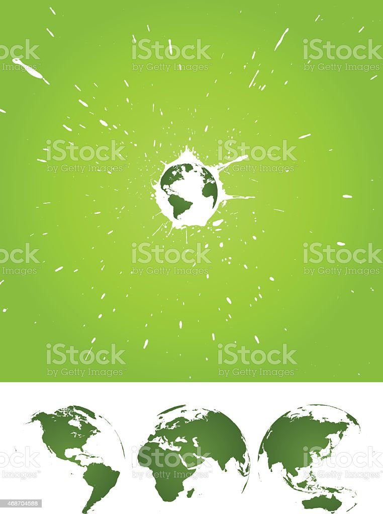 Earth Day background[Splashing Earth] vector art illustration