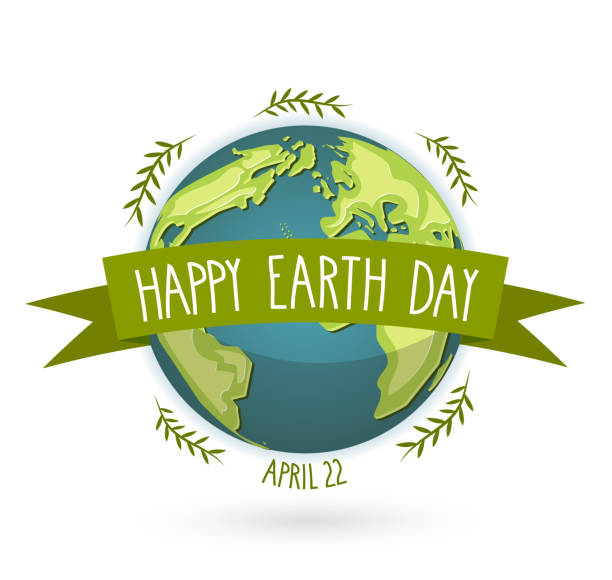 Earth Day banner with handwritten text, april 22 Vector illustration. Earth Day banner with handwritten text, april 22 Vector illustration. EPS10 earth day stock illustrations