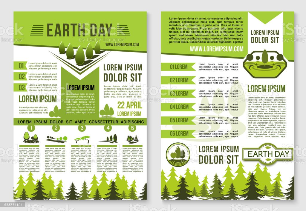 earth day brochure template for ecology design royalty free earth day brochure template for ecology