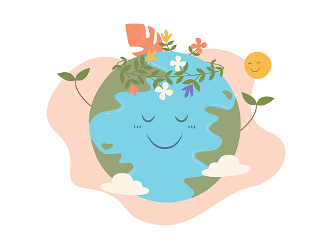 Earth Day concept, Save the earth, Happy Earth Day