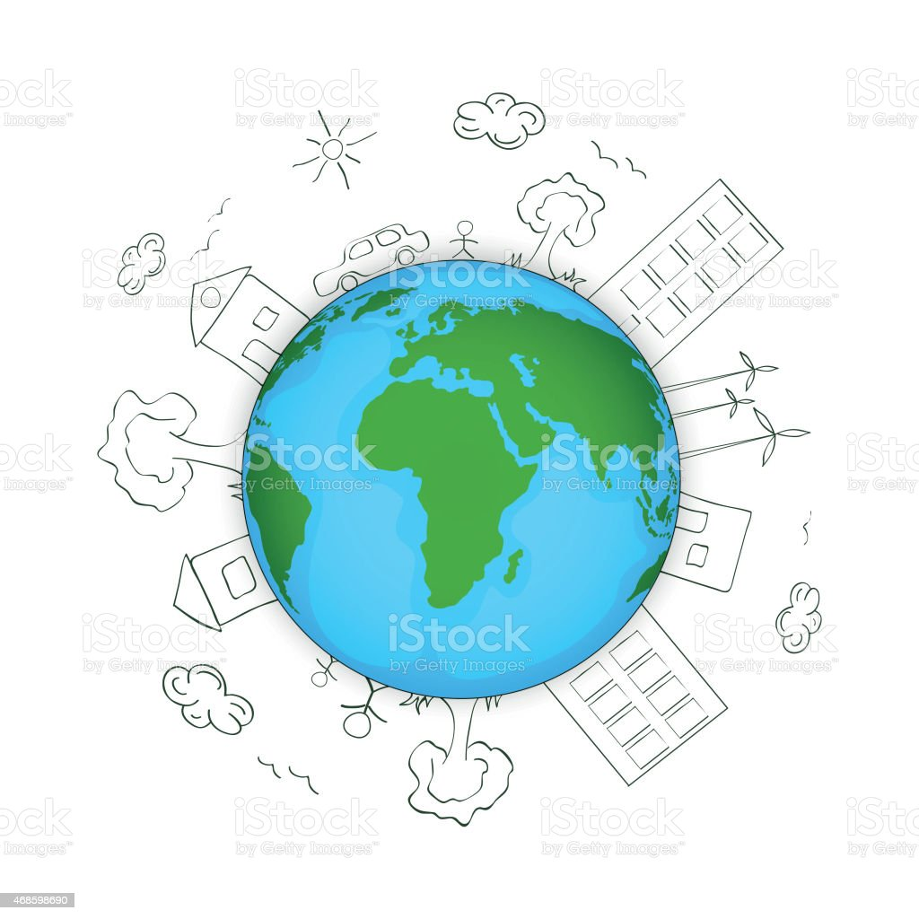 Earth day concept with globe stock vector art more images of 2015 earth day concept with globe royalty free earth day concept with globe stock vector ccuart Gallery