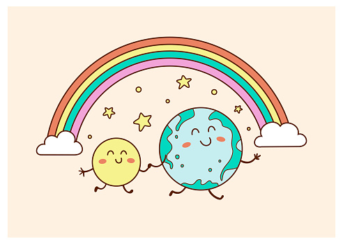 Earth Day cute vector illustration EPS10