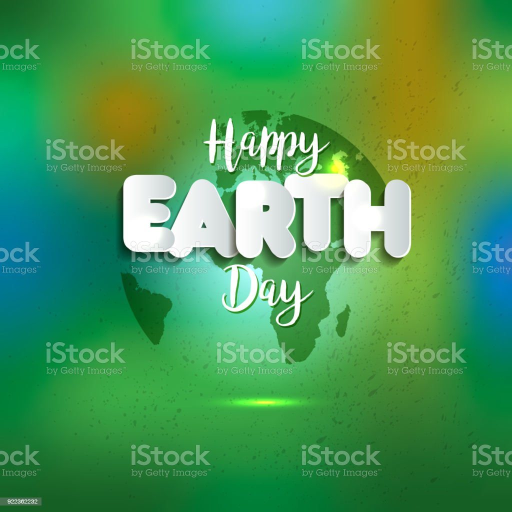 Earth day earth world map globe sign lettering in paper style earth world map globe sign lettering in paper style greeting card gumiabroncs Image collections