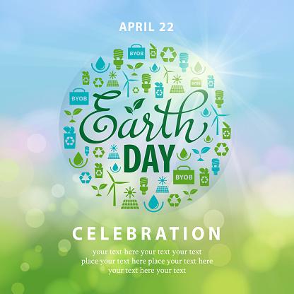 Earth Day Ecology Elements Globe