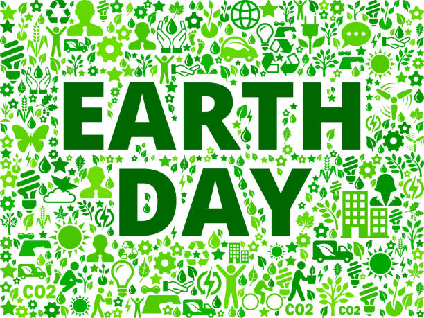 Earth Day Environmental Conservation Vector Icon Pattern vector art illustration