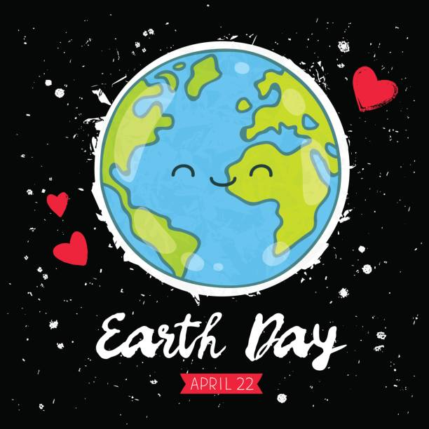 earth day. gift card - earth day stock illustrations, clip art, cartoons, & icons
