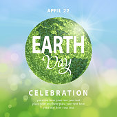 Bunch of leaves forming a green earth globe for the Earth Day concept of living green and environmental protection
