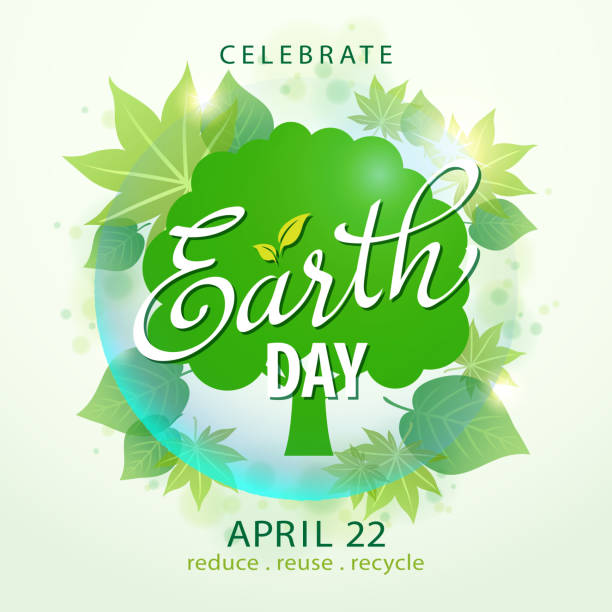 Earth Day Green Planet Earth Day green planet concept. earth day stock illustrations
