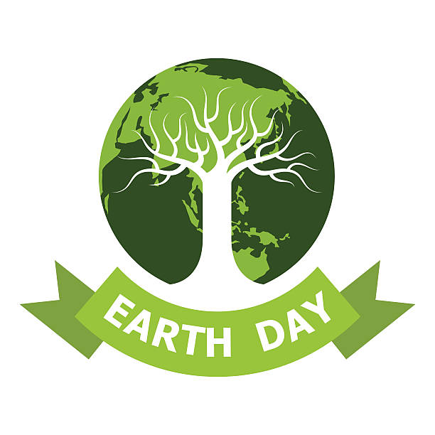earth day icon earth day icon image stock illustrations