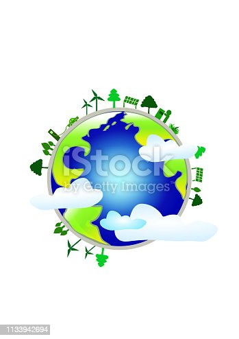 Earth Day Illustration, New Energy Environmental Protection Illustration