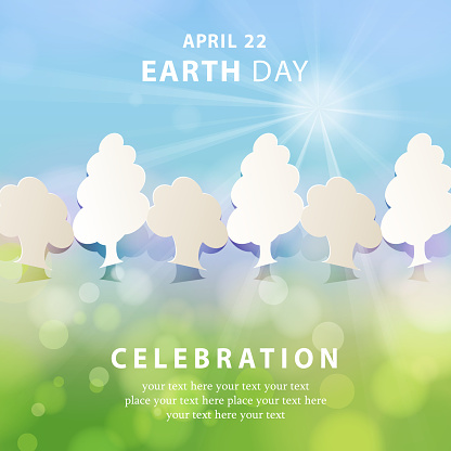 Earth Day Papercut Tree Concept