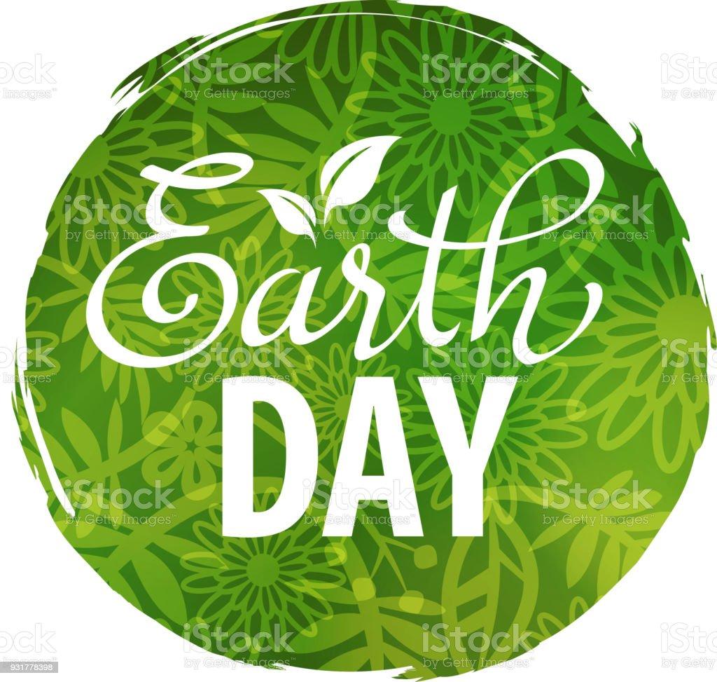 Concepto de planeta tierra día - ilustración de arte vectorial