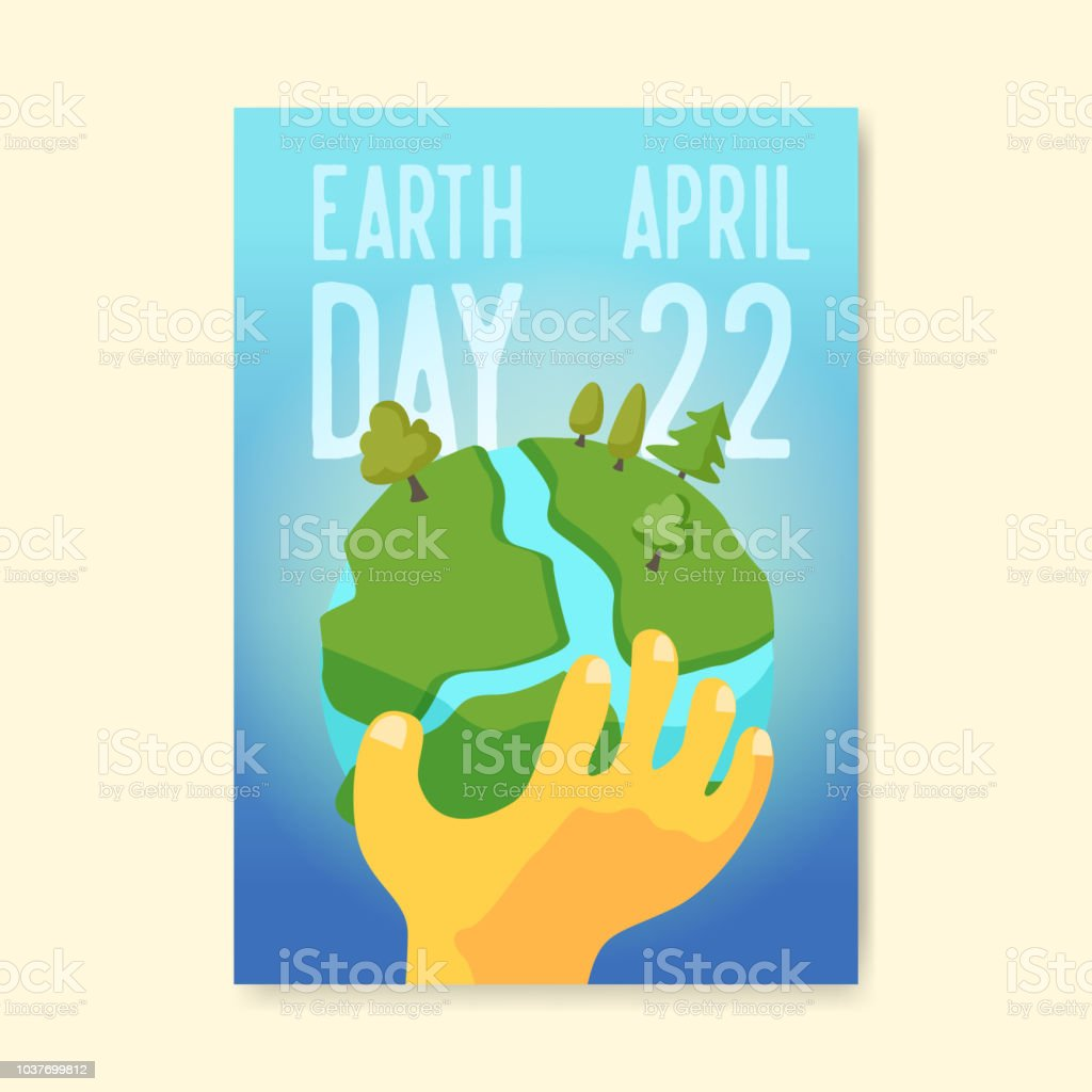 earth day poster flyer brochure template green planet banner