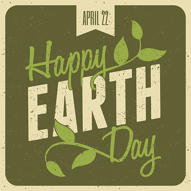 Earth Day Poster Typographic design poster for Earth Day. earth day stock illustrations