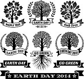 Earth Day with Tree Banners & Badges