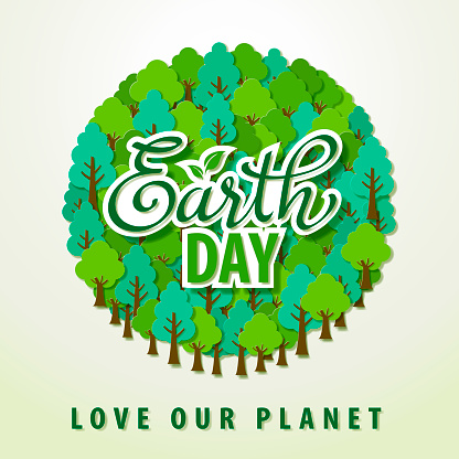 Earth Day Tree Planet