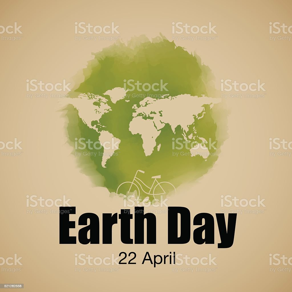 earth day typography, vector Illustration vector art illustration