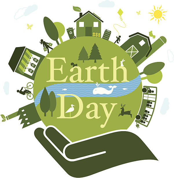 earth day - composting stock illustrations
