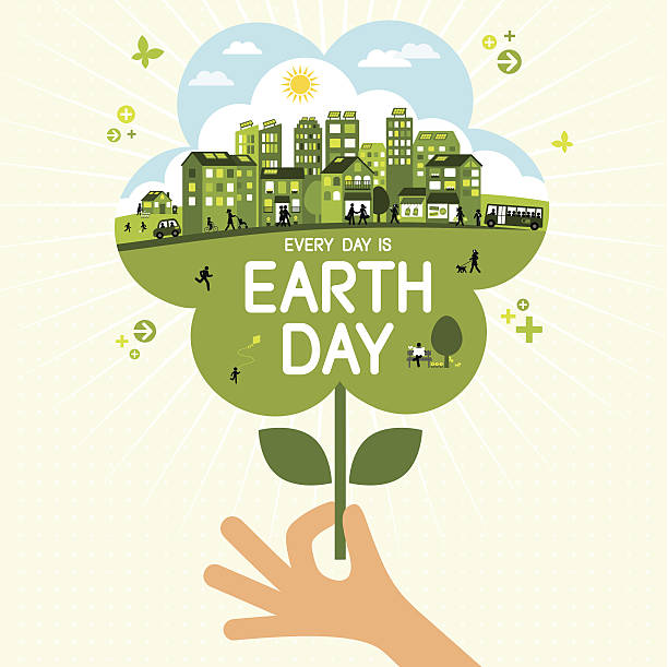 earth day - earth day stock illustrations, clip art, cartoons, & icons