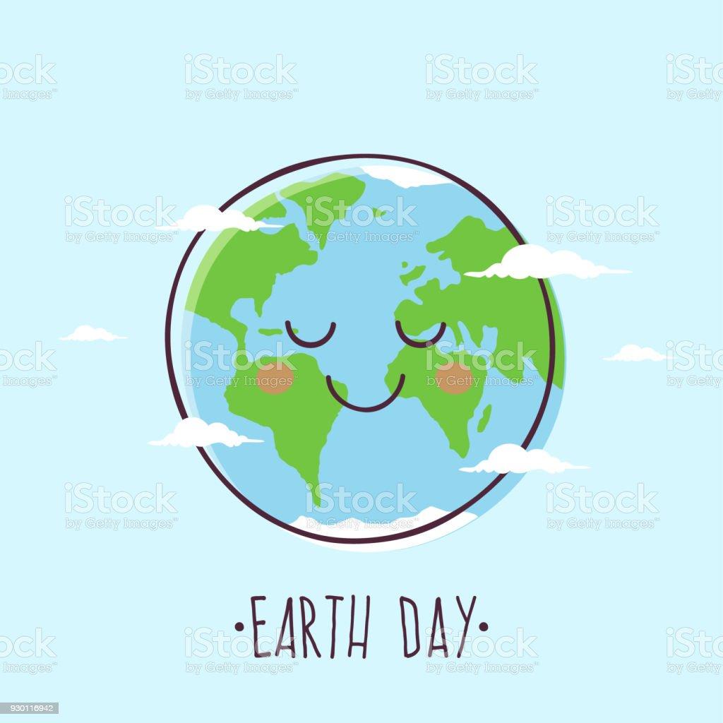 Día de la tierra - ilustración de arte vectorial