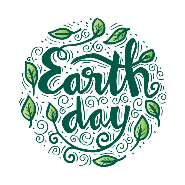 Earth day Earth day design earth day stock illustrations