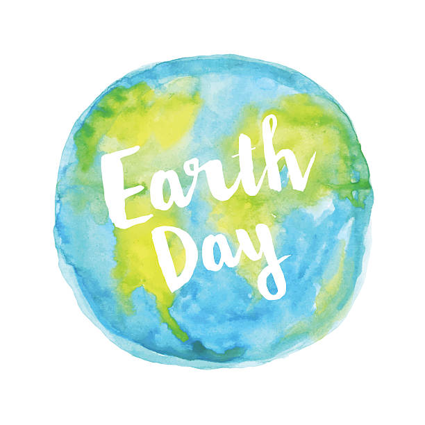 Earth day watercolour Editable vector illustration with layers. earth day stock illustrations