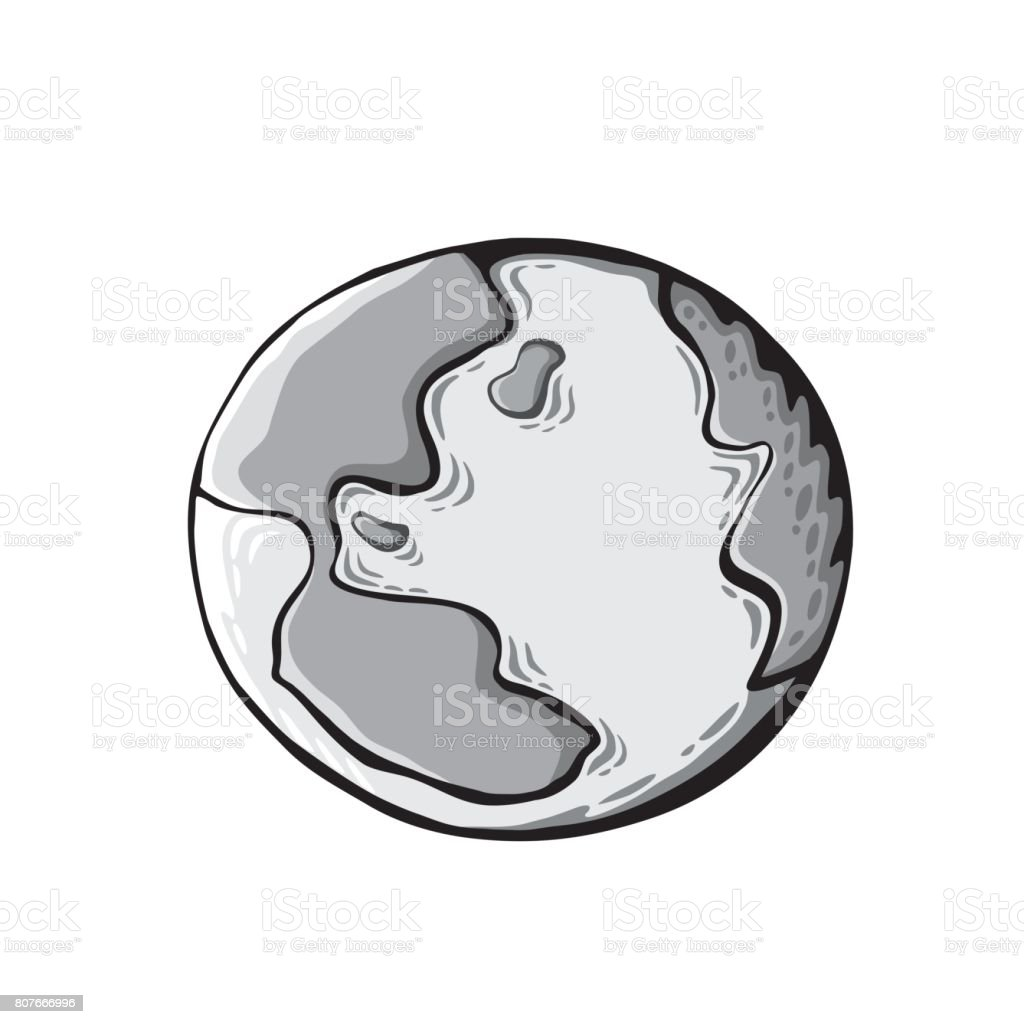 Earth drawing on white background world map or globe in doodles earth drawing on white background world map or globe in doodles style royalty gumiabroncs Images