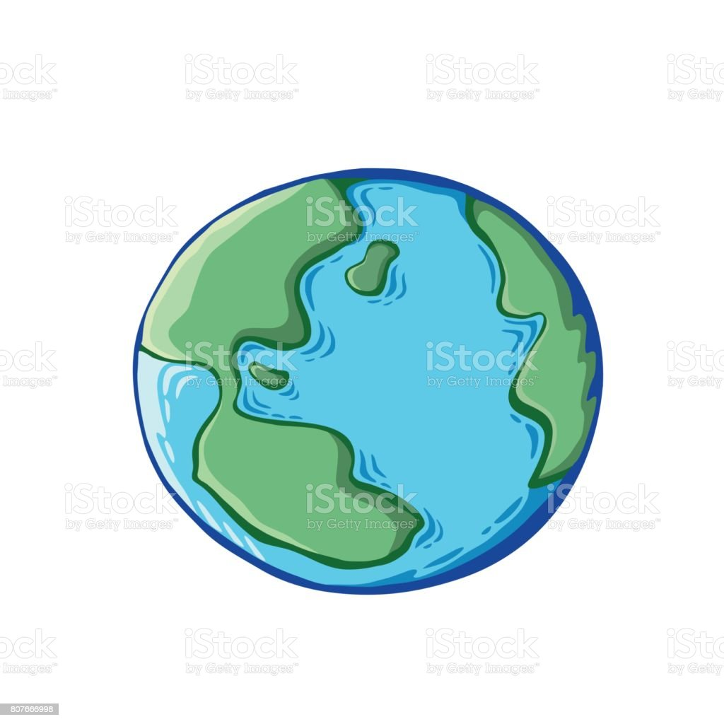Earth drawing on white background world map or globe in doodles earth drawing on white background world map or globe in doodles style royalty gumiabroncs Gallery