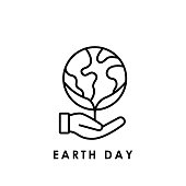 Earth. Earth environment icon. Earth day icon. Earth day vector. Earth day icon vector. Earth day logo. Earth day symbol. Earth icon isolated on white background. Earth day icon sign for logo, web, app, UI. Earth icon flat vector illustration.