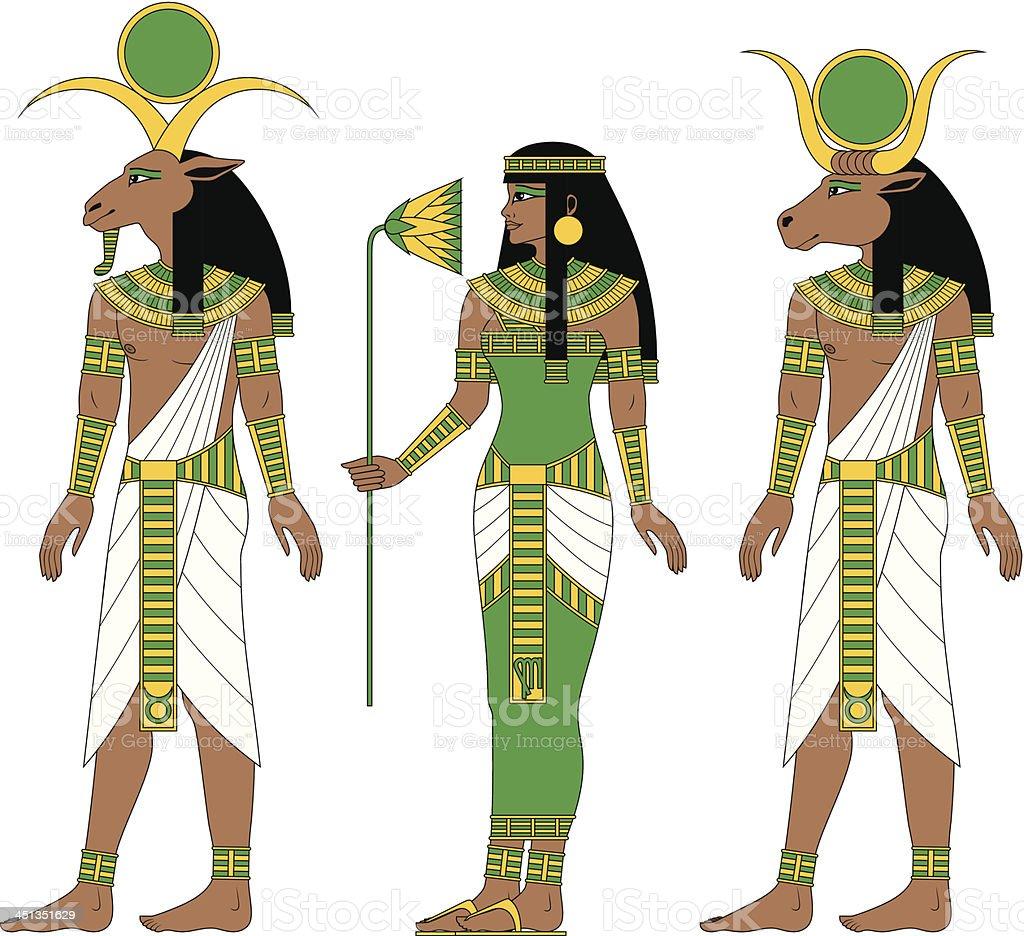 Earth Egyptian Zodiac: Capricorn, Virgo, Taurus royalty-free stock vector art