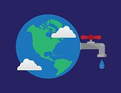Earth Faucet Water Droplet