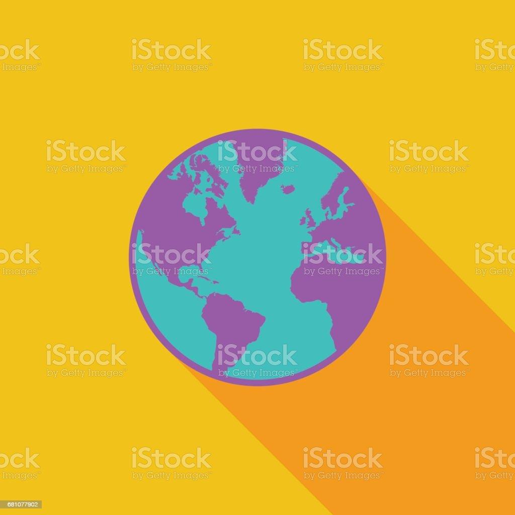 Earth flat icon stock vector art 681077902 istock earth flat icon royalty free stock vector art gumiabroncs Gallery