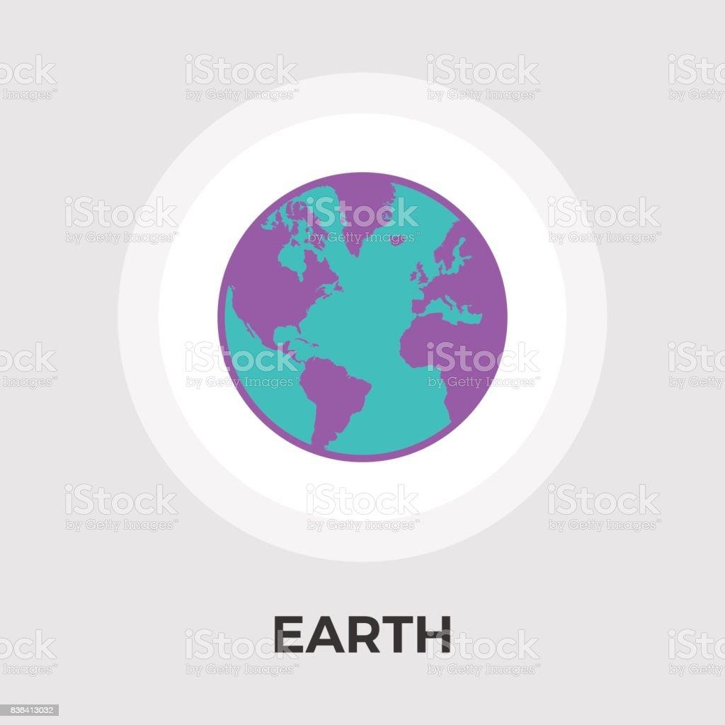Earth flat icon stock vector art 836413032 istock earth flat icon royalty free stock vector art gumiabroncs Gallery