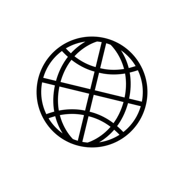 ilustraciones, imágenes clip art, dibujos animados e iconos de stock de tierra / global icono de comunicación - suministros escolares
