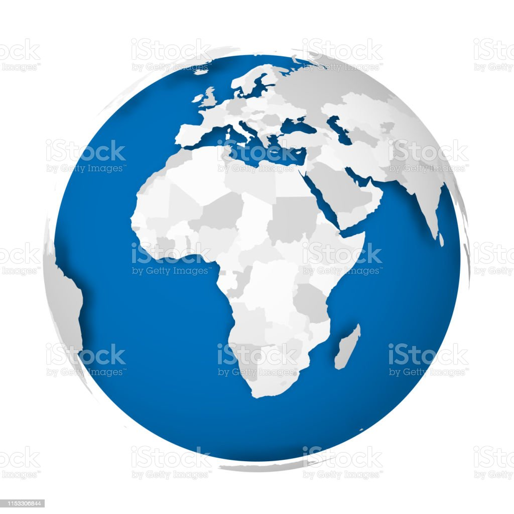 Earth Globe 3d World Map With Grey Political Map Of Countries Dropping on map earth's, map of the world, world globe, printable globe, topographic map, mappa mundi, thematic map, map of the volcano,