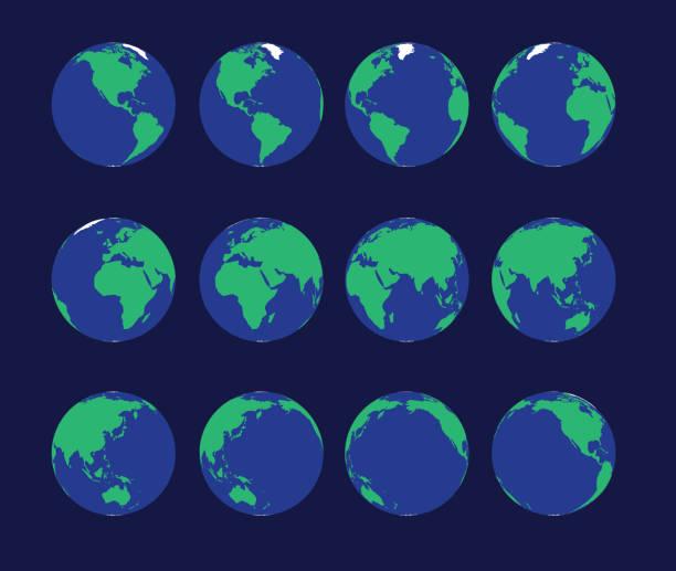 地球グローブアニメーションスピニングベクトルイラスト - 地球点のイラスト素材/クリップアート素材/マンガ素材/アイコン素材