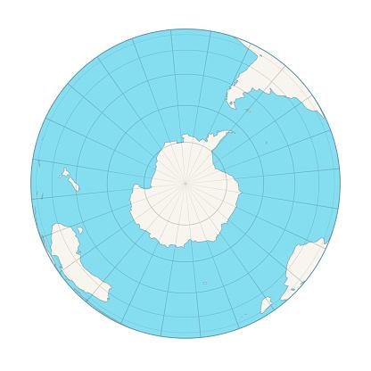 Earth globe, Antarctica view.