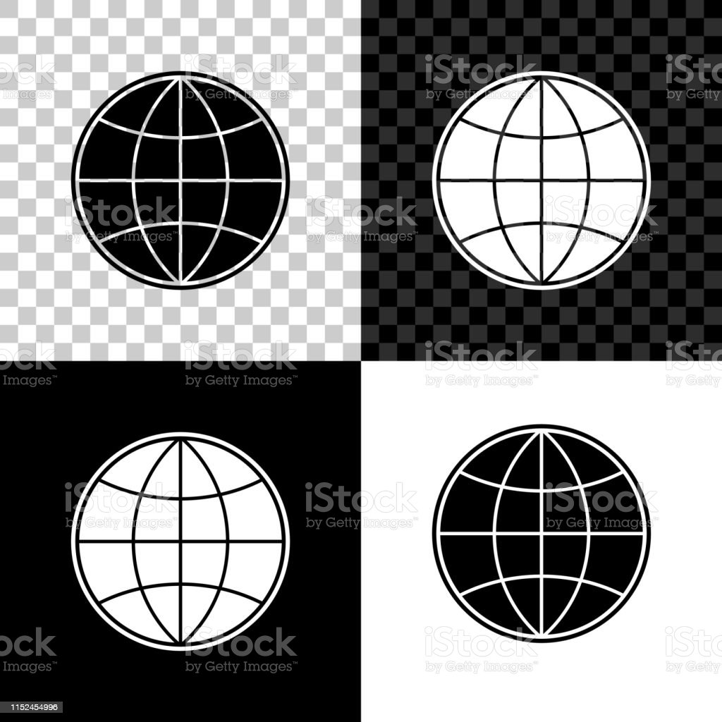 Earth Globe Icon Isolated On Black White And Transparent Background World Or Earth Sign Global Internet Symbol Geometric Shapes Vector Illustration Stock Illustration Download Image Now Istock
